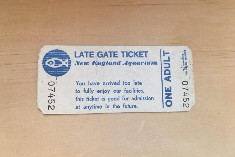 38-Year-Old Aquarium Ticket